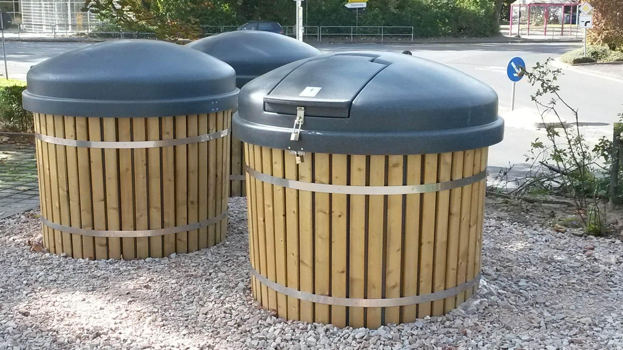 semi underground containers